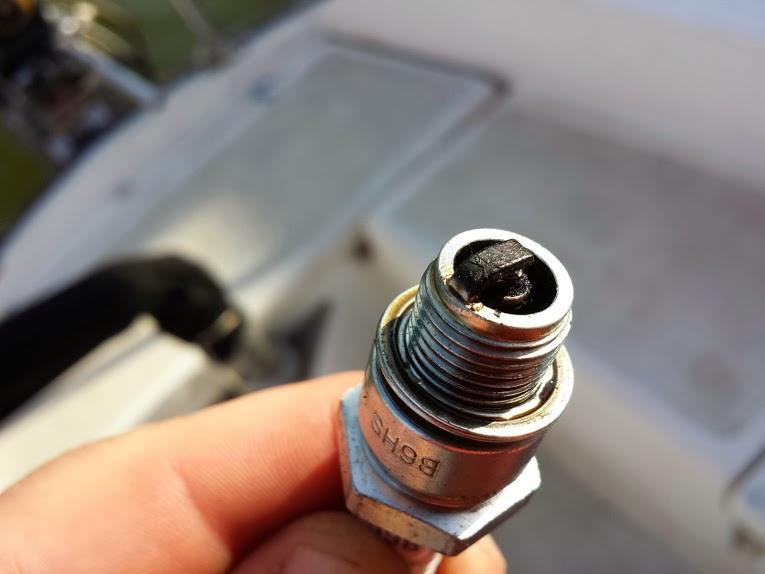 Fouled spark plug