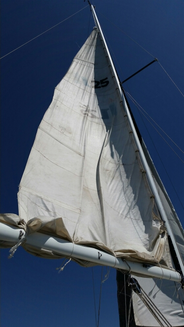 Reefed mainsail