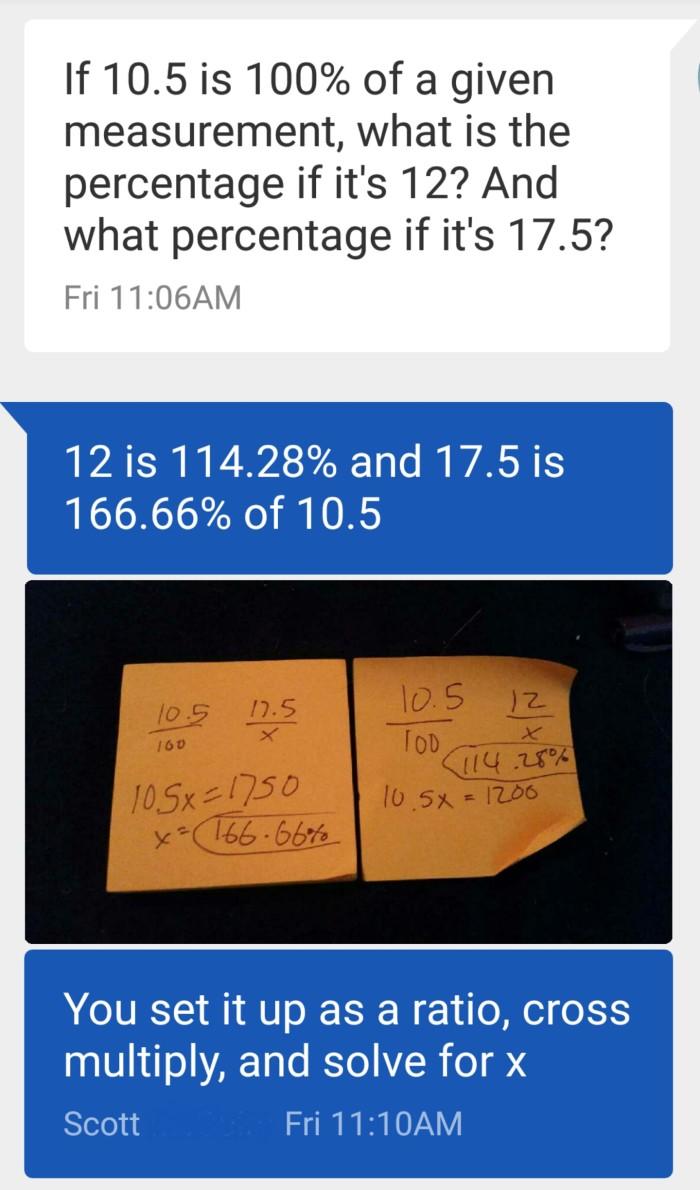 Scott's quick math skills!