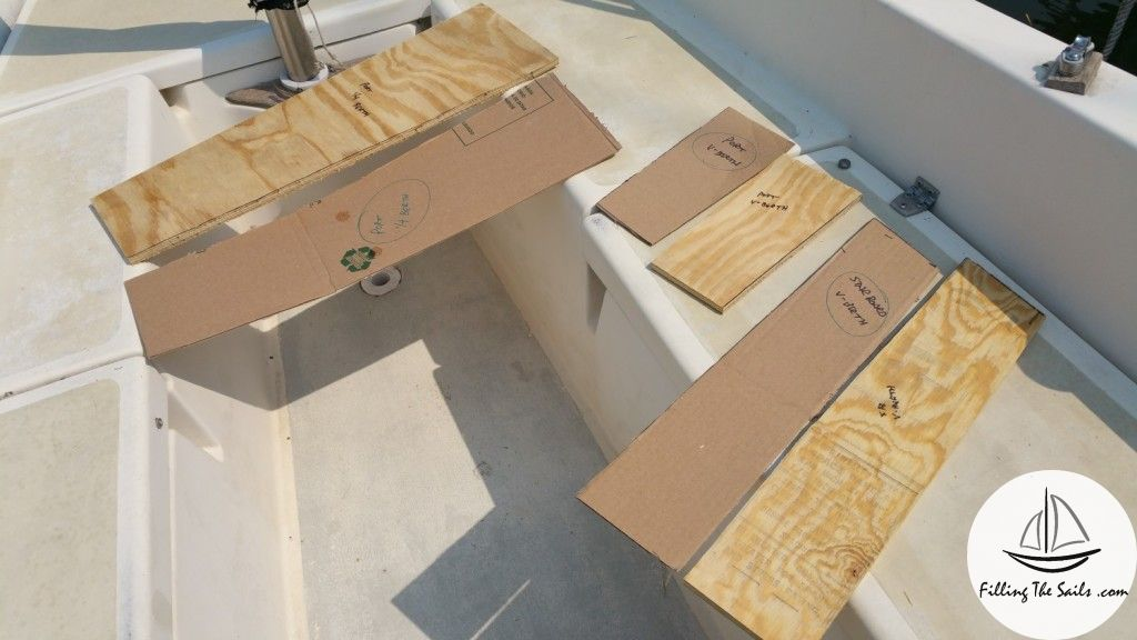 Cardboard templates cut to size
