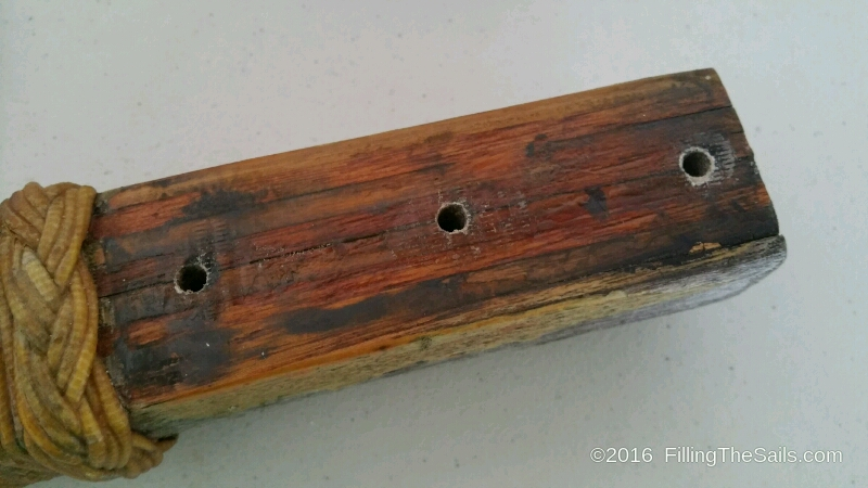 Neatly drilled bolt holes