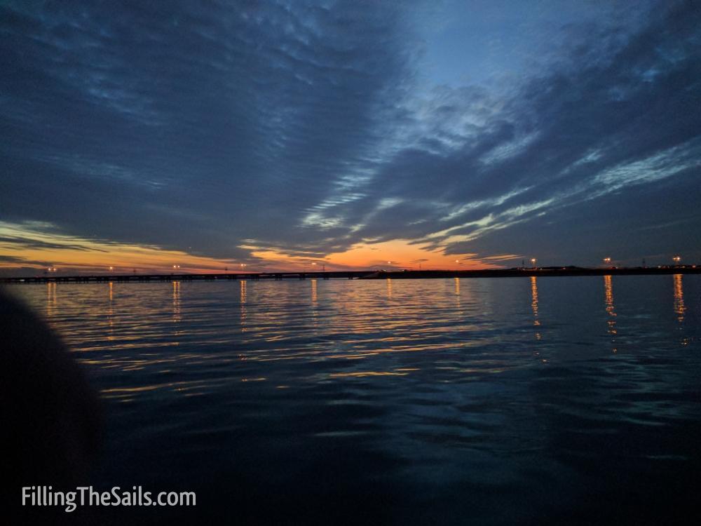 Sunset sailing on Joe Pool Lake